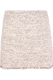 Frayed tweed mini skirt
