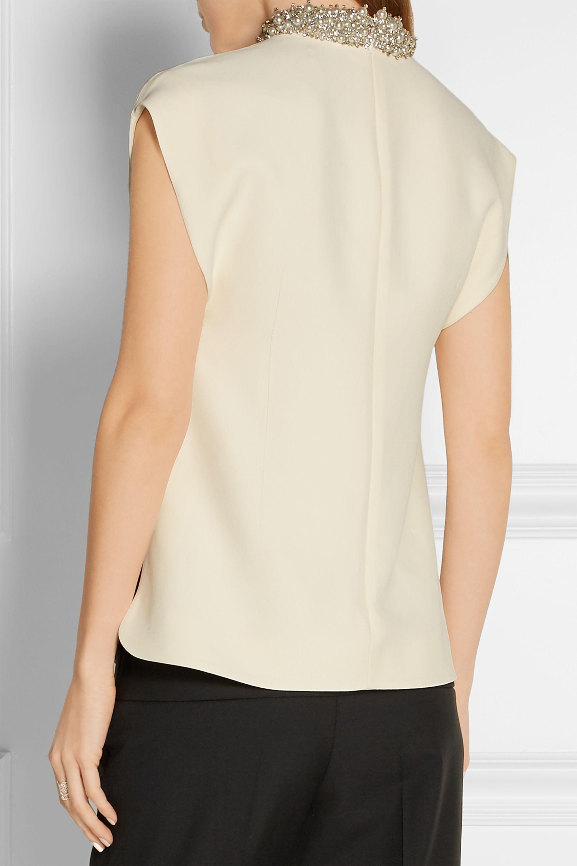 Balenciaga Embellished crepe top