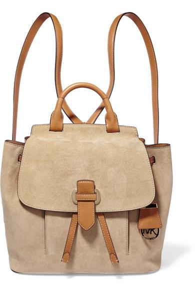 michael michael kors romey medium suede and leather backpack net rh net a porter com