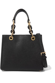 Cynthia small textured-leather tote