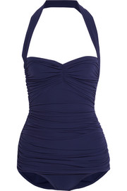 Bill Mio ruched halterneck swimsuit