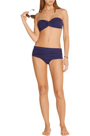 Norma Kamali Bill ruched low-rise bikini briefs