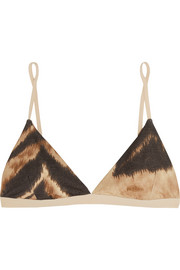 Mississipi animal-print stretch-bamboo jersey soft-cup bra