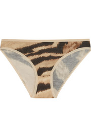 Bell animal-print stretch-bamboo jersey briefs