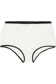 Bell two-tone cotton-blend crepe briefs