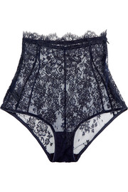 Chantilly lace high-rise briefs