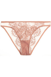 Jamais le Premier Soir tulle and Chantilly lace briefs