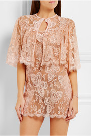 Passiflora Chantilly lace and tulle bed jacket