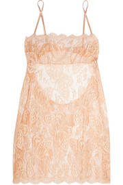 Chantilly lace and tulle chemise