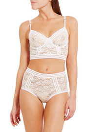 Agnes stretch-corded lace briefs