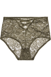 Betty stretch-corded lace briefs