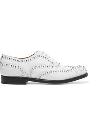 The Burwood studded leather brogues