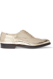 The Burwood metallic leather brogues