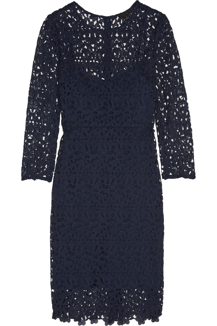 J.Crew Cadenza Guipure Lace Dress, Navy, Women's, Size: 2