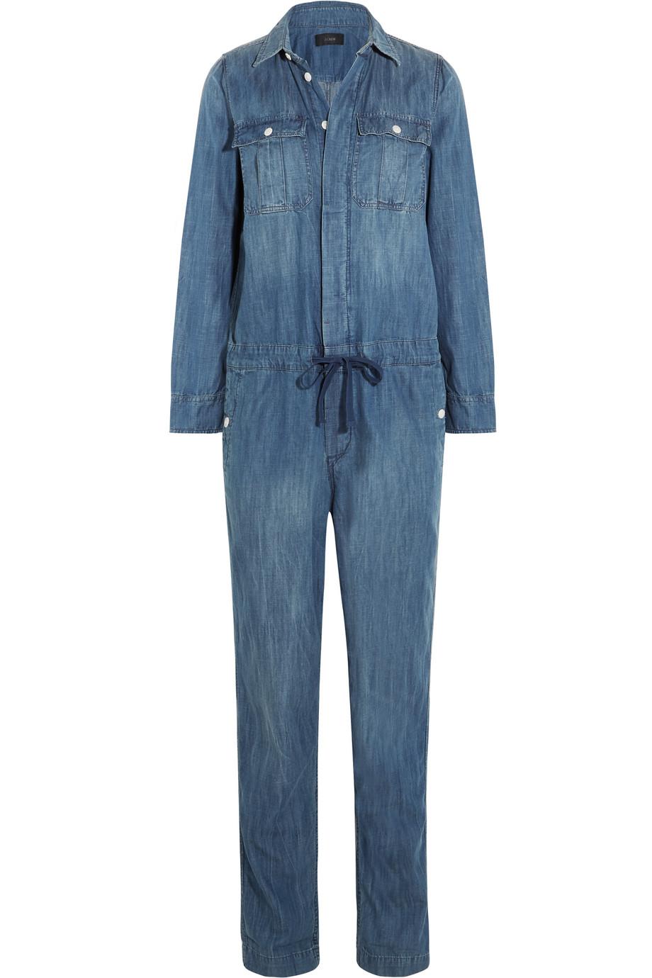 J.Crew Edding Chambray Jumpsuit, Blue, Women's, Size: 0