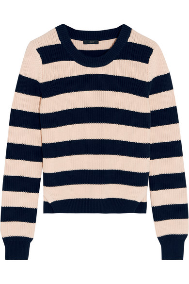 J.Crew - Collection Striped Cotton Sweater - Midnight blue