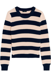 Collection striped cotton sweater