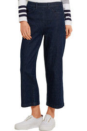 J.Crew Rayner cropped high-rise wide-leg jeans