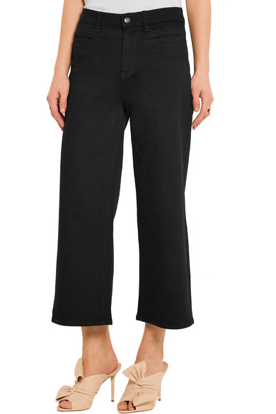 J Crew Rayner Cropped High Rise Wide Leg Jeans