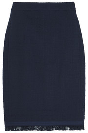 J.Crew Fringed cotton-blend tweed skirt