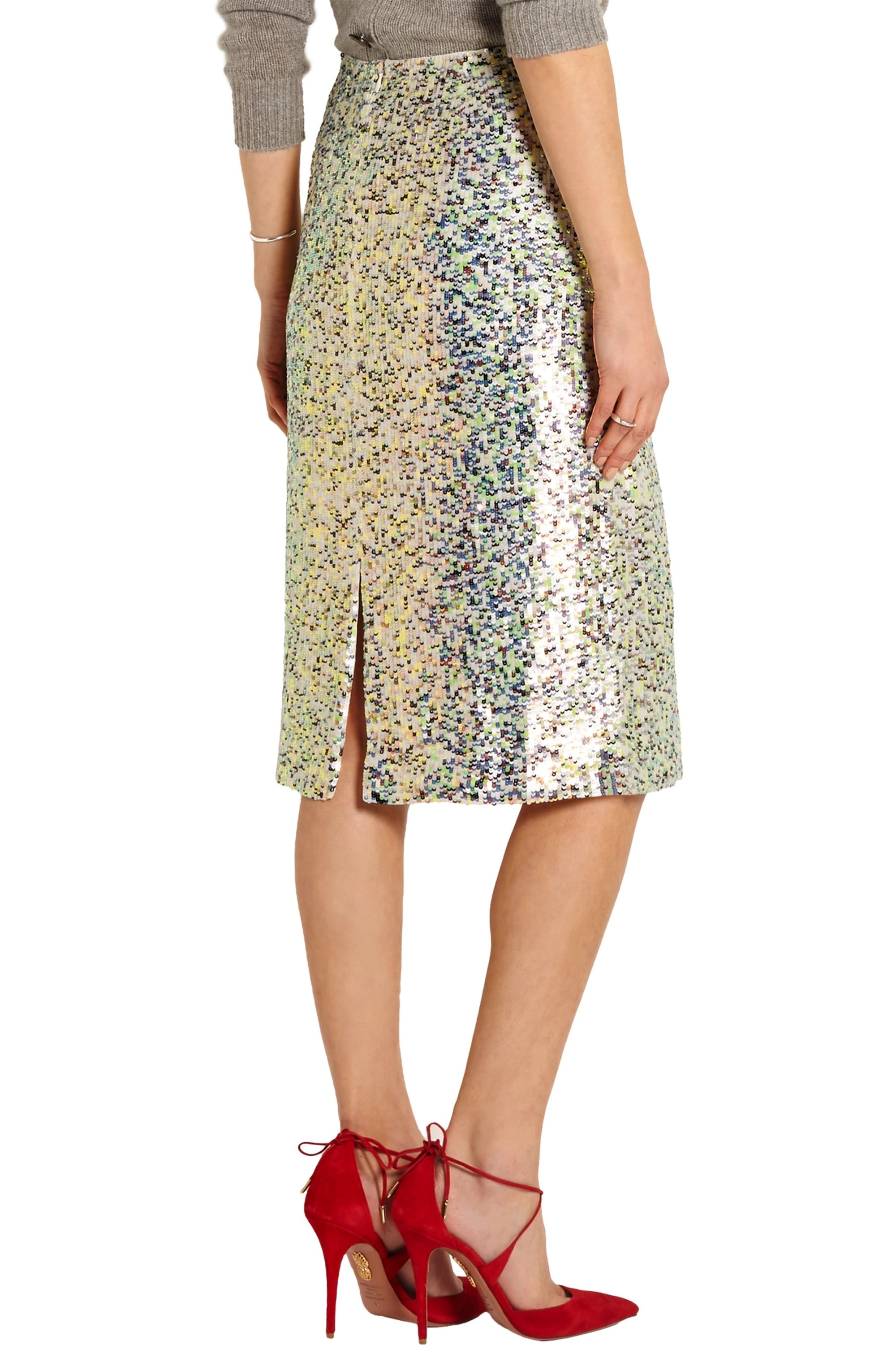 J.Crew Collection sequined georgette skirt