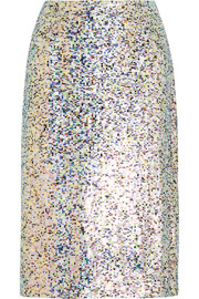 Collection sequined georgette skirt