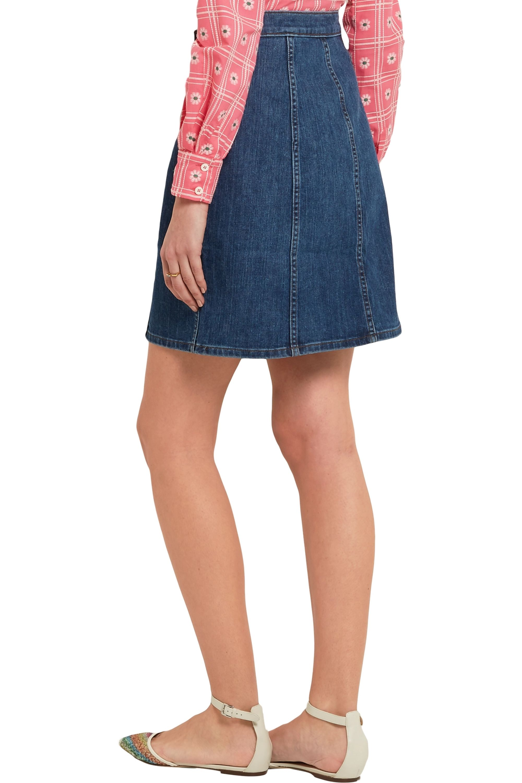 J.Crew Stretch-denim mini skirt