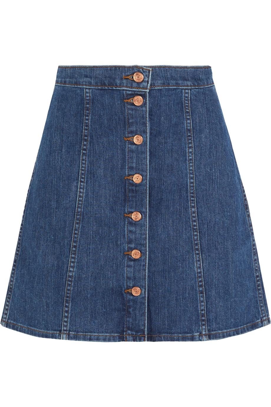 J.Crew Stretch-Denim Mini Skirt, Blue, Women's, Size: 24