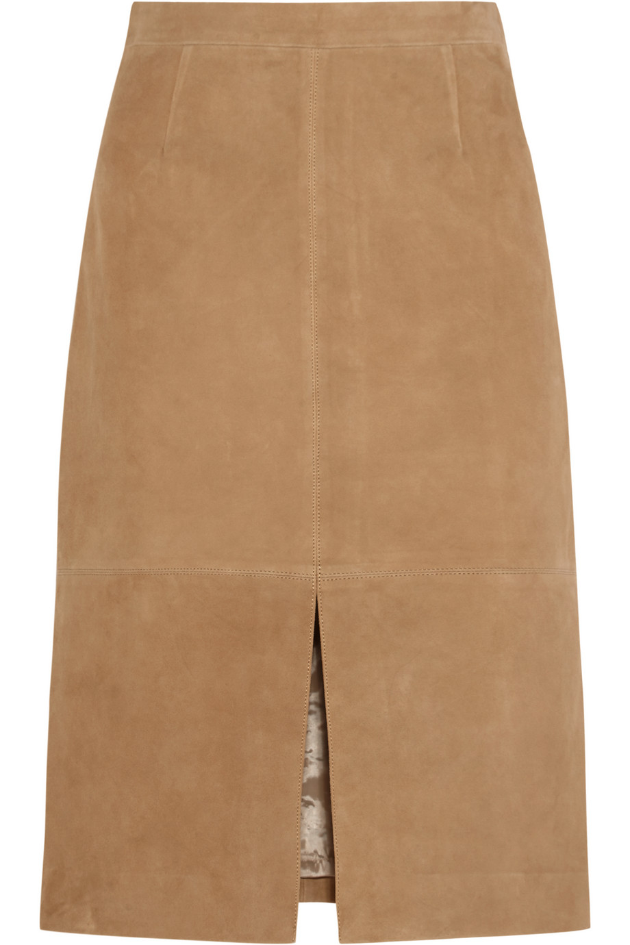 J.Crew Collection Suede Skirt, Sand, Women's, Size: 2