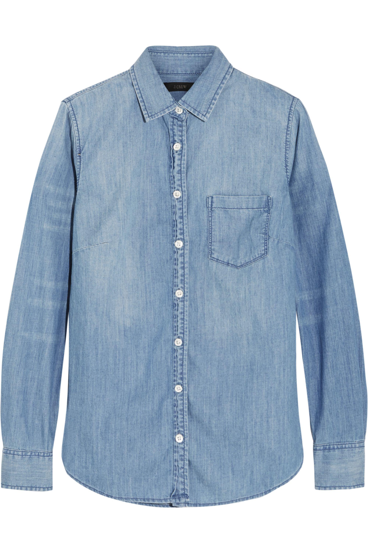J.Crew Always cotton-chambray shirt