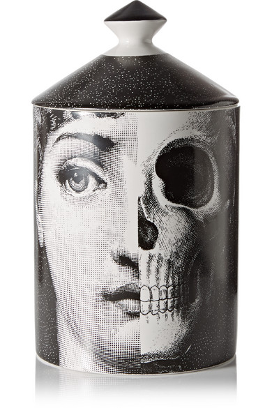 FORNASETTI R.I.P Thyme, Lavender And Cedarwood Scented Candle, 300G in White