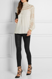 The Soho coated low-rise skinny jeans