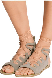 Antigone lace-up suede sandals