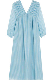 Petaluma striped silk-georgette dress