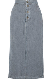 Malo striped denim skirt