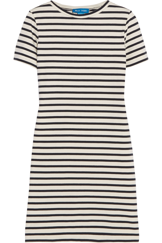 M.i.h Jeans Jesais striped slub cotton-jersey mini dress