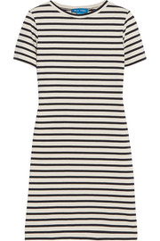 Jesais striped slub cotton-jersey mini dress