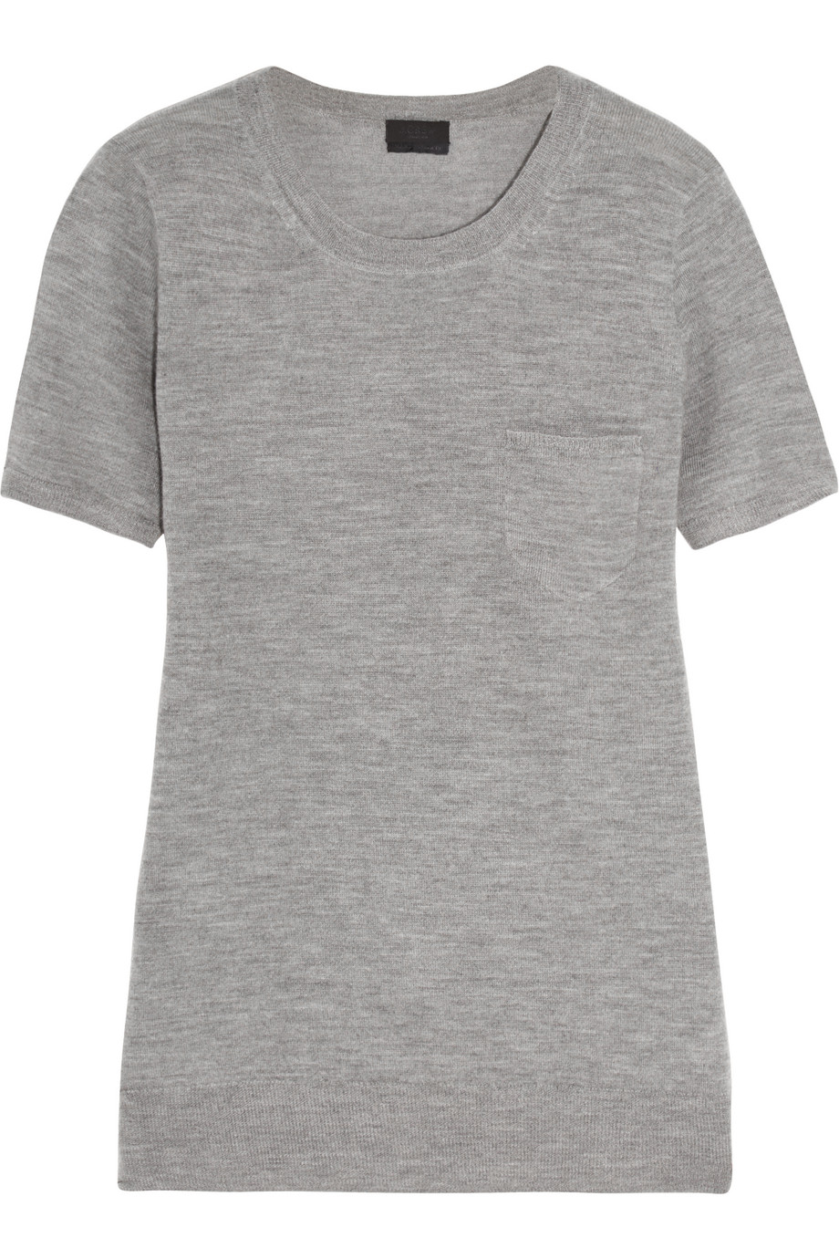 J.Crew Cashmere T-Shirt, Gray, Women's, Size: XS