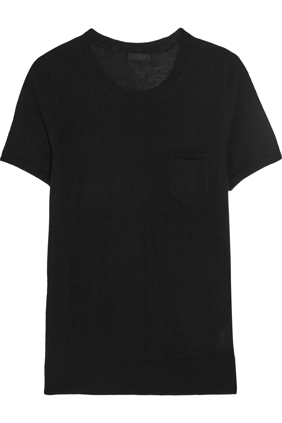 J.Crew Collection Cashmere T-Shirt, Black, Women's