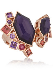 Gold Struck Crystal Haze 18-karat rose gold multi-stone ring