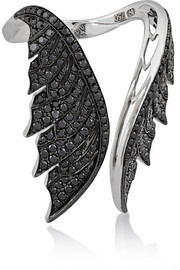 Magnipheasant Open Wing 18-karat white gold diamond ring