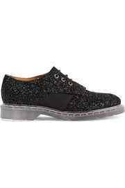 Glittered leather brogues