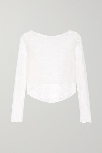 RIME ARODAKY Perry Asymmetric Lace Top in White