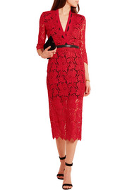 Sloane zipped lace midi dress