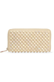 Panettone spiked leather continental wallet