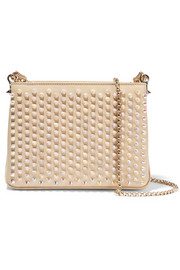 Triloubi small spiked leather shoulder bag