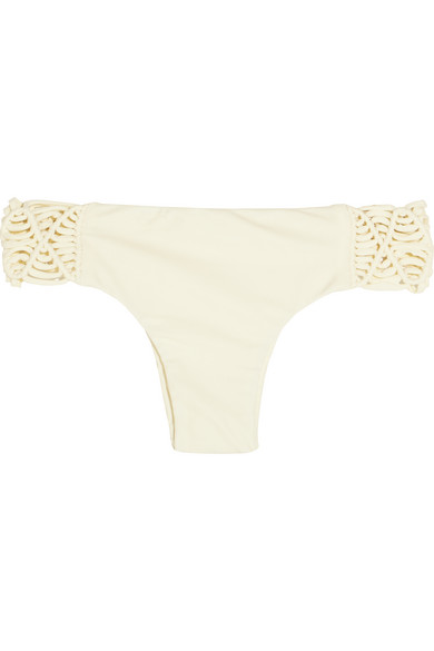Mikoh - Cayman Crocheted Bikini Briefs - Cream