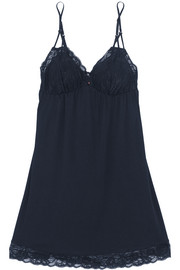 Penelope lace-trimmed stretch-jersey chemise