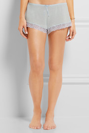 Eberjey I Do lace-trimmed modal pajama shorts