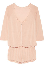 Eberjey Afternoon Delight pointelle-knit playsuit